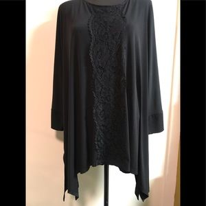 BEAUTIFUL CATHERINES   BLACK BLOUSE